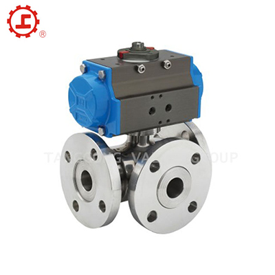 STAINLESS STEEL THREE-WAY BALL VALVE